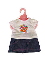 Кукольный наряд DBJ-455-468-1(Белая футболка)