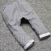 Тёплые штаны р 86 9-12 мес зимние детские штанишки для новорожденных малышей мальчика девочки ФУТЕР 6000 Серый