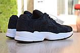 Кроссовки в стиле Adidas Yung  черные на белой, замш, фото 8
