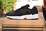 Кроссовки в стиле Adidas Yung  черные на белой, замш, фото 9