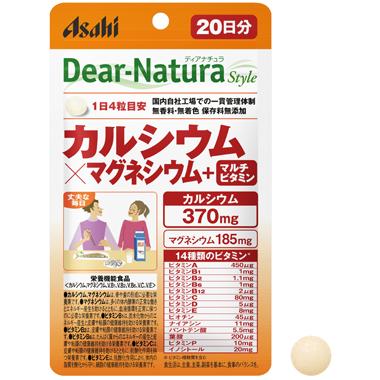 Asahi Dear Natura кальций магний 2:1  + 14 витаминов 80 таб на 20 дней