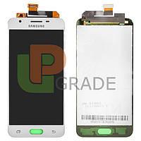 Дисплей  Samsung G570F Galaxy J5 Prime (2016) + тачскрин, белый, копия хорошего качества