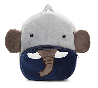 Рюкзак велюровий для хлопчика Слон