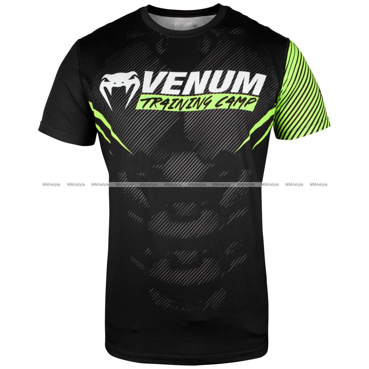 Футболка Venum Training Camp 2.0 T-shirt Black Neo Yellow