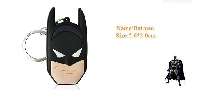 Брелоки за мотивами коміксів Marvel і DC Бетмен