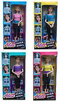 "Кукла типа ""Барби""Йога"" 103-1/2/3/4 (96шт/2) 4вида,шарнир.,в спортивном костюме,в кор."