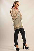 Женский трикотажный кардиган с поясом (Пэчворк ri), фото 2