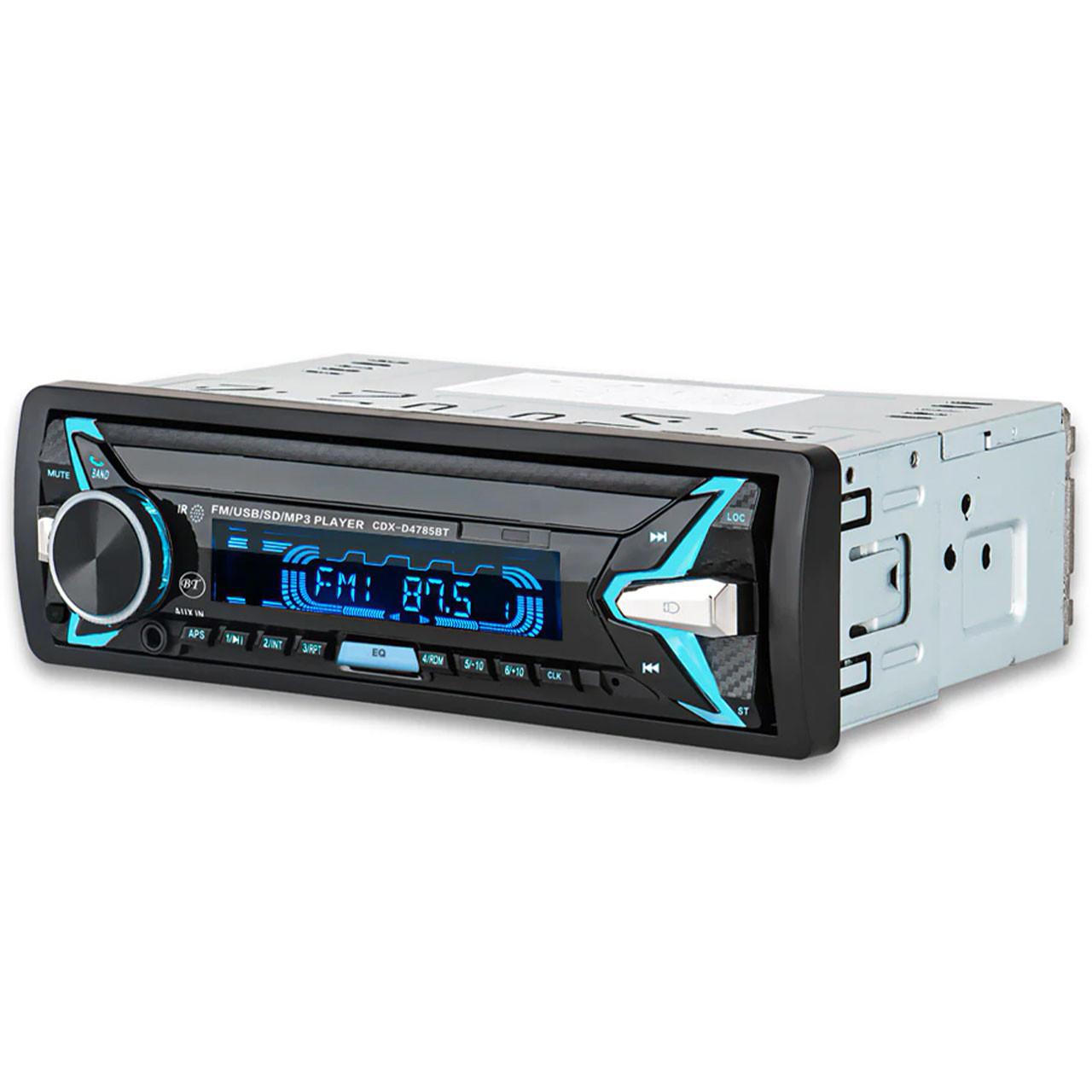 Автомагнитола Lesko 4785 1 DIN Bluetooth SD карта USB AUX (3350-9818)
