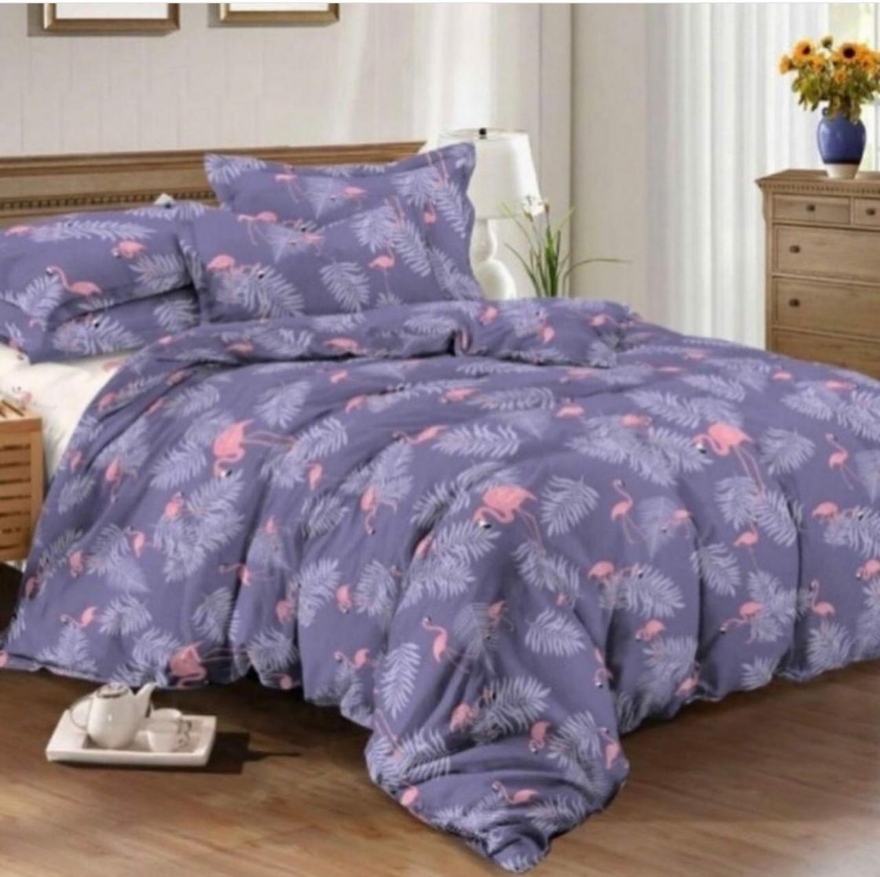 Постельное белье 1.5 спальное  фламинго
