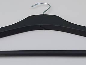 """Плечики длиной 44 см деревянные """"Premium"""" класса черного матового цвета, фото 2"""