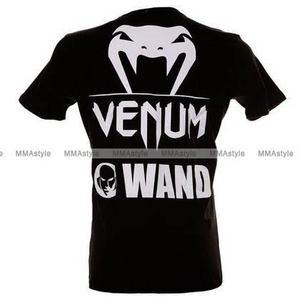 Футболка Venum Wand Fight Team T-Shirt Black, фото 2