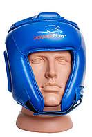 Боксерський шолом турнірний PowerPlay 3045 Синій M, фото 1