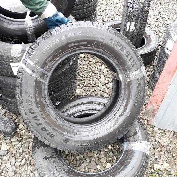 Почти Новые! Шины б.у. 215.75.r16с Matador MPS 510 Матадор. Резина бу для микроавтобусов. Автошина усиленная. Цешка