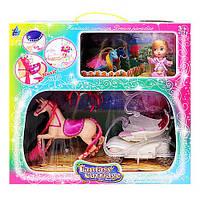 Карета с лошадкой и куклой ( музыка, свет) SM3006