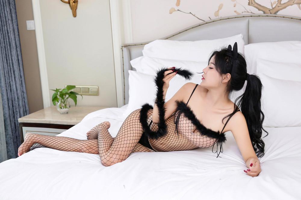 """Бодистокинг комбинезон сетка игровой костюм кошечки наряд для ролевых игр """"Cat"""" черный"""
