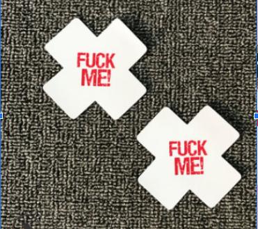 "Наклейки на грудь Пэстисы ""Fuck Me"" Белые"