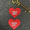 """Наклейки на грудь Пэстисы """"Kiss Me"""" Красные, фото 2"""