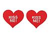 """Наклейки на грудь Пэстисы """"Kiss Me"""" Красные, фото 3"""