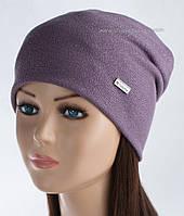 Трикотажная женская шапочка Пирсинг гламур лиловый металлик