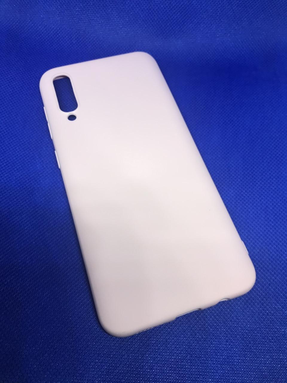 Samsung Galaxy A30S 2019 (A307F)матовый цветной силиконовый ультратонкий чехол/ бампер/ накладка нежно-розовый