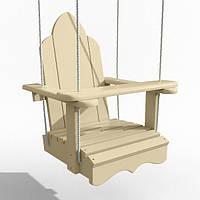 Качели Infancy  деревянные подвесные «Арка» бежевая
