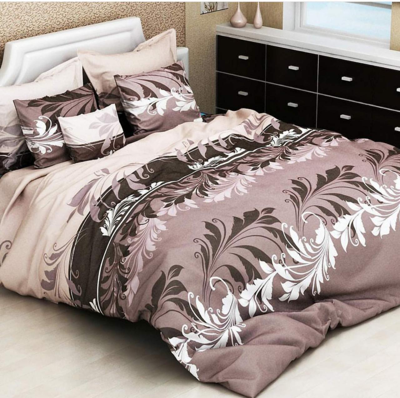 Постільна білизна 1.5 спальне Вінтаж коричневий