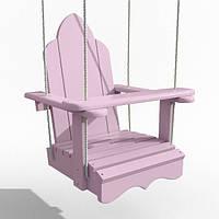 Качели Infancy  деревянные подвесные «Арка» Розовая