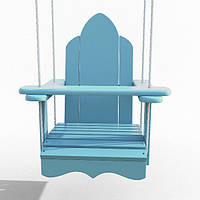 Качели Infancy  деревянные подвесные «Арка» Голубая