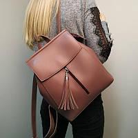 """Современный рюкзак-сумка (трансформер) """"Моби Dark Pink"""", производство Украина, фото 1"""