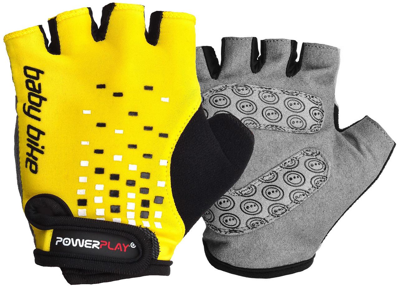 Велорукавички PowerPlay 5451 Жовті 2XS
