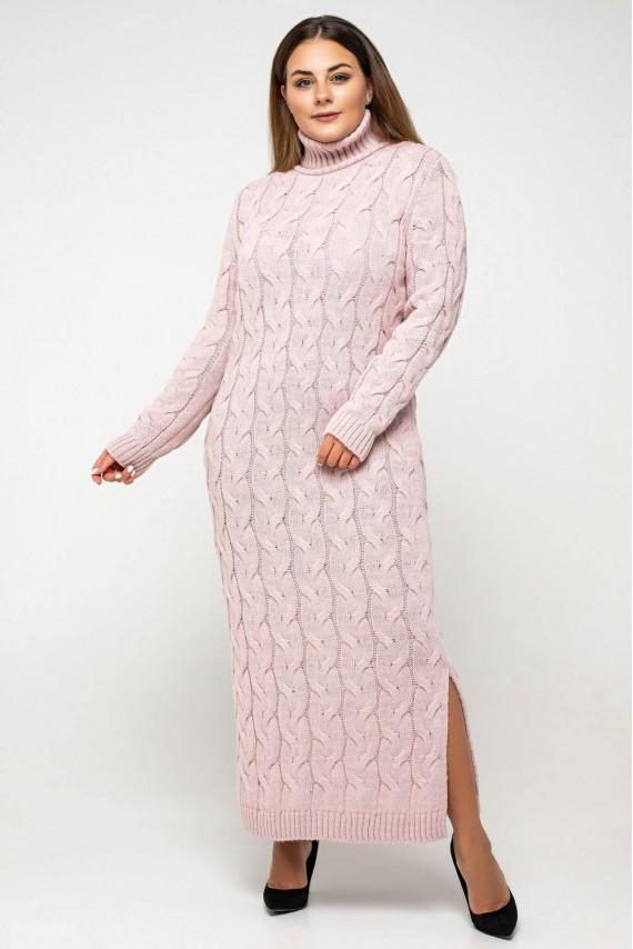 В'язане плаття з горлом максі з 42 по 56 розмір