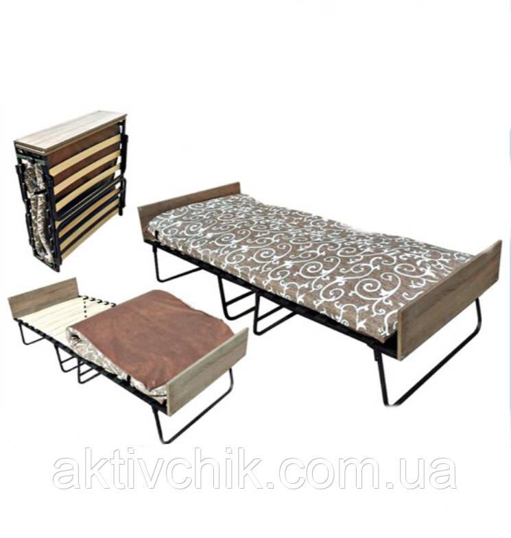 Раскладушка Модерн (Белла) для сна и отдыха с матрасом на ламелях