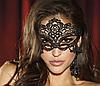 Кружевная маска на глаза, Карнавальная ажурная маска Черная, фото 2