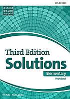Рабочая тетрадь Solutions Third Edition Elementary Workbook (Edition for Ukraine)