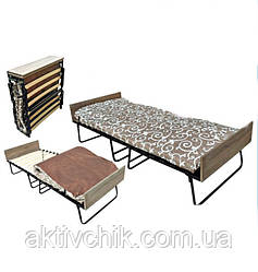 Раскладушка Модерн (Белла) с матрасом и деревянными ламелями, для сна и отдыха
