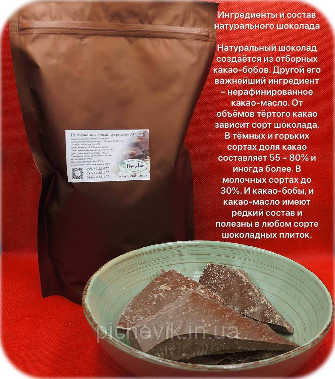 Молочный шоколад (весовой) (Украина) Вес: 150 гр