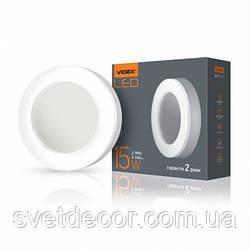 Светодиодный светильник ЖКХ круглый VIDEX 15W IP65 5000K для подъезда и других помещений