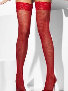 Сексальные чулки в сетку Красный