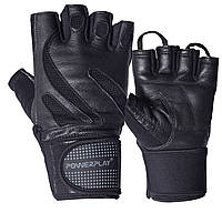 Рукавички для фітнесу PowerPlay 1064 Чорні L, фото 1
