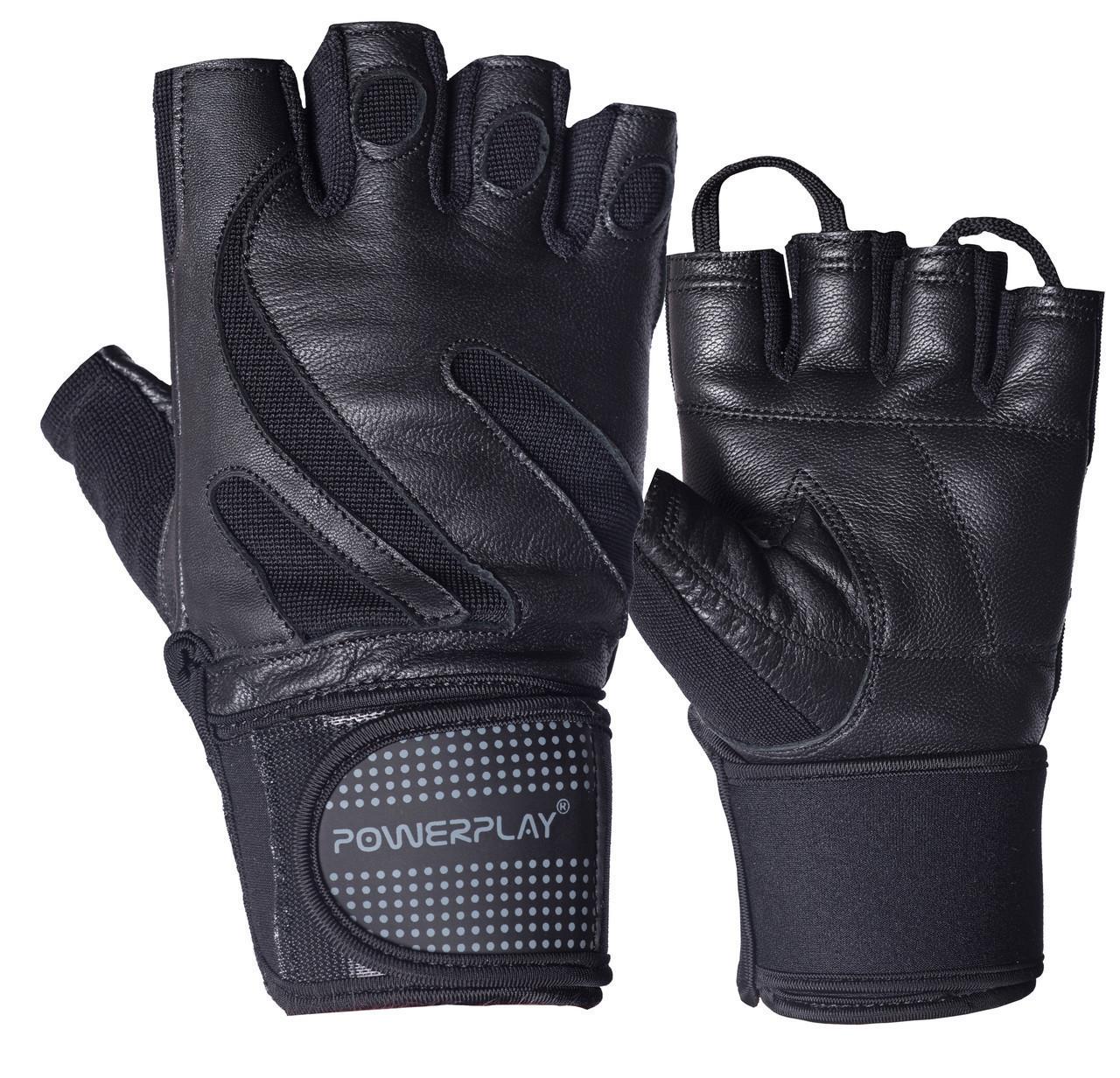 Рукавички для фітнесу PowerPlay 1064 Чорні XL