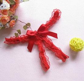 Эротические трусики кружевные бабочка Красные