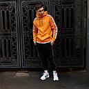 Худи мужское Адидас (Adidas) оранжевый, фото 7