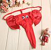 """Трусы слоник, мужские стринги """"Счастливый Слоник"""" Красные, фото 2"""