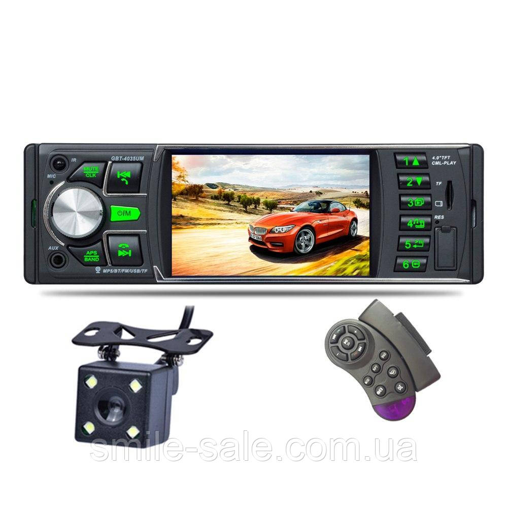 "Автомагнитола Pioneer GBT-4035UM Bluetooth,4,1"" LCD TFT USB+SD DIVX/MP4/MP3 + ПУЛЬТ НА РУЛЬ+КАМЕРА!"