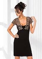 Нічна сорочка із віскози DONNA Gloria  розмір S/36, колір - чорний