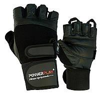 Рукавички для фітнесу PowerPlay 1073 Чорні M, фото 1