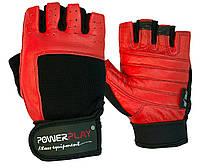 Рукавички для фітнесу PowerPlay 1588 A Чорно-Червоні L, фото 1