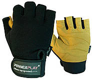Рукавички для фітнесу PowerPlay 1574 Чорно-Коричневі M, фото 1