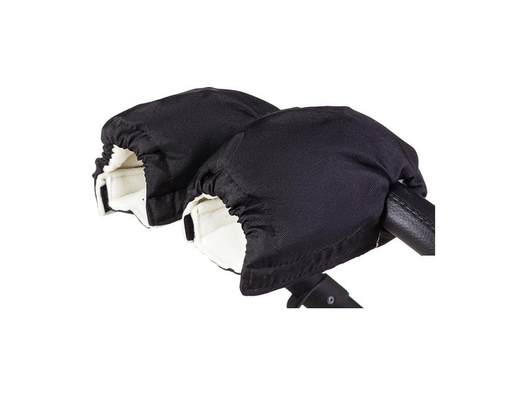 Рукавички-Муфта на коляску Флис (Черный)