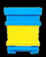 Многокорпусный улей Дадан на 10 рамок из пенополистирола (корпус, дно, крыша, магазин).